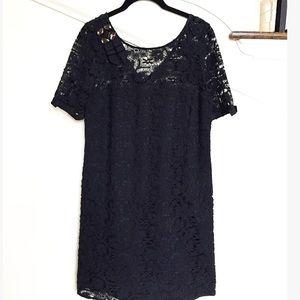 AKA New York Dresses & Skirts - A.K.A Little Black Lace Shift Dress Embellished