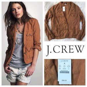 J. Crew Jackets & Blazers - NWT J. Crew Linen Utility Military Blazer Jacket