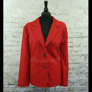 R.Q.T. Jackets & Blazers - R.Q.T. Red Collared Jacket NWOT