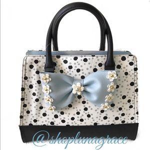Betsey Johnson Handbags - Just In🦋 Betsey Flirty Floral Dots Satchel