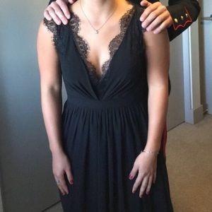 Dresses & Skirts - Black Chiffon Lace Prom Dress