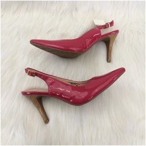 Shoes - Fuchsia Patent Leather Heels With Back Strap  NWT