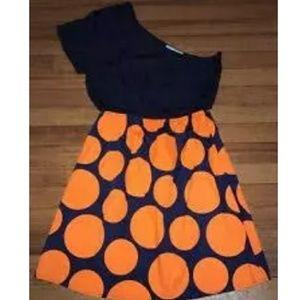 Judith March Dresses & Skirts - Judith March one sleeve polka dot dress