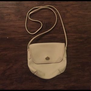 Vintage Coach cross body in cream