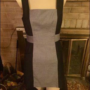 Dresses & Skirts - Super mod grey & black mini dress; wear three ways
