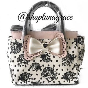 Betsey Johnson Handbags - Just In🎀Betsey Lacey Lazer Cut Bow Bag