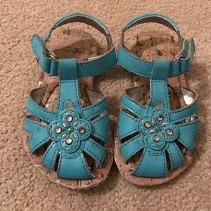 Stride Rite Other - Aqua blue stride Rite sandals with gems