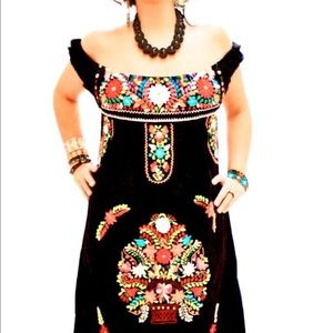 Cielito Lindo  Dresses & Skirts - New Mexican Traditional Mini Dress Off-Shoulder
