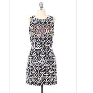 Dresses & Skirts - Tribal weave beaded front open-back mini dress