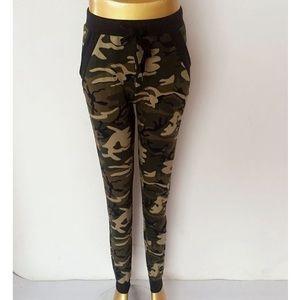 Pants - Camouflage active wear/lounging wear pants. L/XL