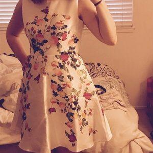 White Floral Modcloth Dress