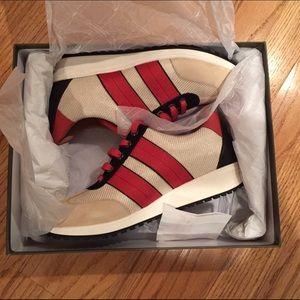 Longchamp Shoes - NIB LONGCHAMP SHOES SNEAKERS Red Black Cream SZ 9