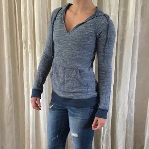 Roxy Blue Marled Pullover Hoodie