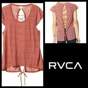 RVCA Tops - RVCA open back boho tee