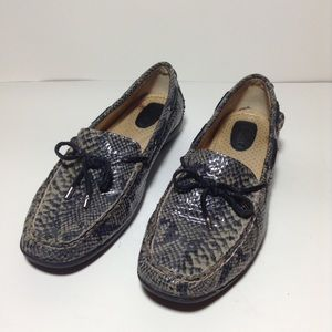 Sperry Top-Sider Shoes - Sperry Top-Sider Animal Print Leather Loafers shoe
