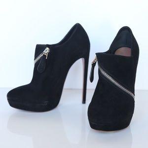Alaia Shoes - ALAÏA suede zipper booties