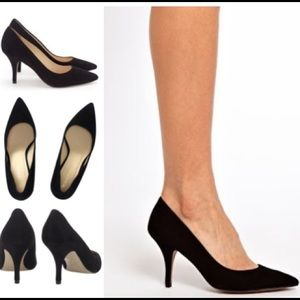 Whistles Shoes - FINAL SALE: Whistles Casini mid heel suede pumps