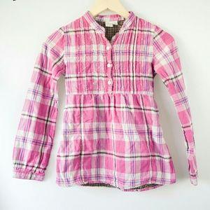 est. 1989 Place Other - Pink, White, Purple Plaid Button Down Top