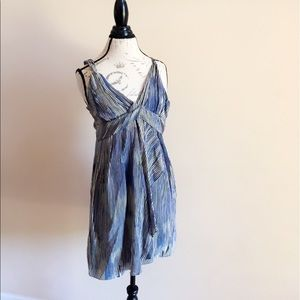 A31 Banana Republic Blue Striped Dress
