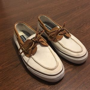 Sperry Top-Sider Other - Sperry Top-Sider Boat Shoes White & Brown 9 1/2