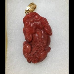 Lucky Jade Other - Red jade necklaces pendant