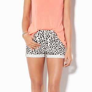 American Eagle Leopard Print Denim Shorts