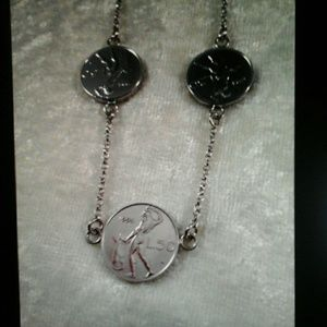 Jewelry - ITALY Vincenza Sterling Silver  Coin Necklace, 17""