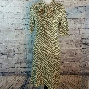 Knitwit Gorgeous pure cashmere animal print dress.