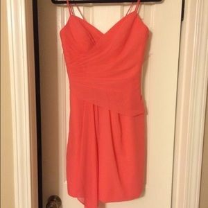 Alfred Angelo Dresses & Skirts - Coral chiffon short dress
