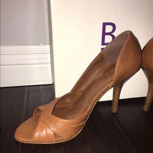 Bakers Shoes - Cognac peep toe heels