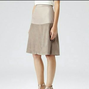 Reiss Dresses & Skirts - Reiss leather and suede skirt bnwt