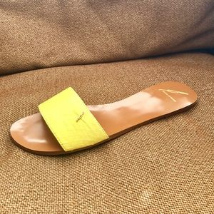 Brian Atwood Shoes - BRIAN ATWOOD Canary Yellow Flat Sandal (NEW)