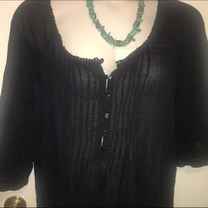 Old Navy XXL Black peasant  with details