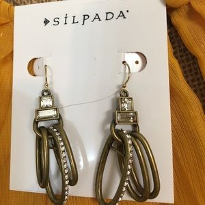 Silpada Jewelry - Silpada Gold Tone Earrings.  Crystal accents.