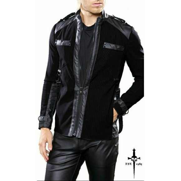 lip service Jackets & Coats - NEW Lip Service Black Moto Leather Gothic Punk Top