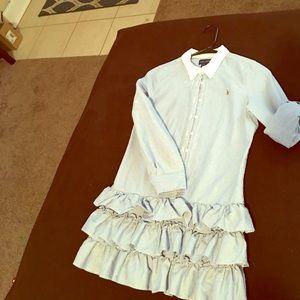Polo by Ralph Lauren Other - Girls RL Blue Oxford Shirt Dress