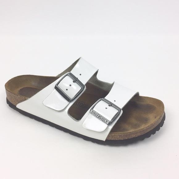 4a3a9c915da Birkenstock Shoes - Birkenstock White Patent Leather Arizona Sandal 40
