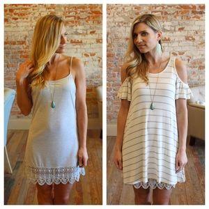 Dresses & Skirts - Gray knit slip extender