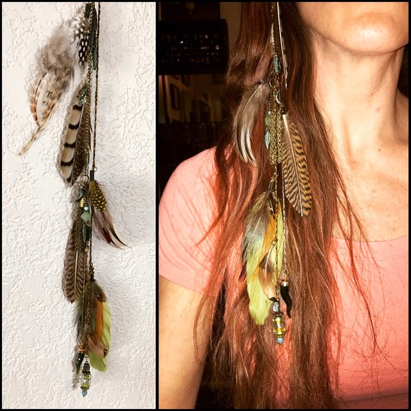 Clip In Feather Hair Extensions Nwt