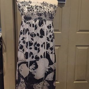 Lapis Other - Beach cover /dress  blue sequence embroidered NWOT