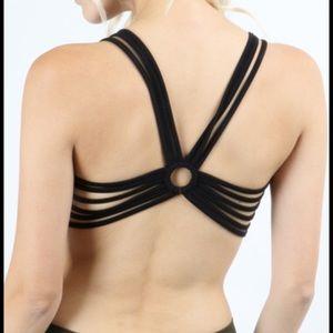 Tops - 🆕 black strappy back bralette