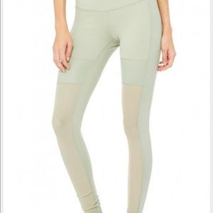 ALO Yoga Pants - ALO mesh leggings (sea foam green color)