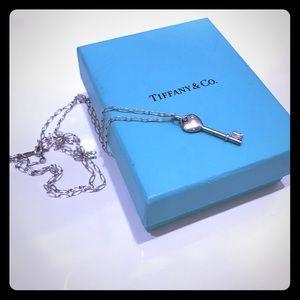 Tiffany & Co. Jewelry - Tiffany Heart Key Necklace with Diamond
