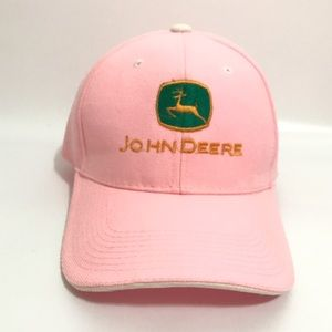 John Deere Accessories - John Deere Womens pink baseball hat Velcro strap