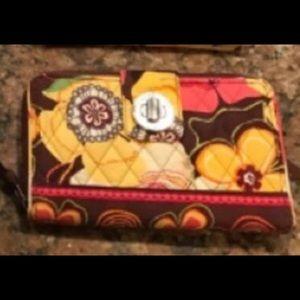 Vera Bradley Buttercup pattern wallet