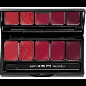 Makeup Forever Other - MAKE UP FOR EVER ROUGE ARTIST LIP PALETTE RED