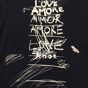 """Paul Smith Tops - Paul Smith Black Top. Large. NWOT. """"love/amore"""". ❤"""