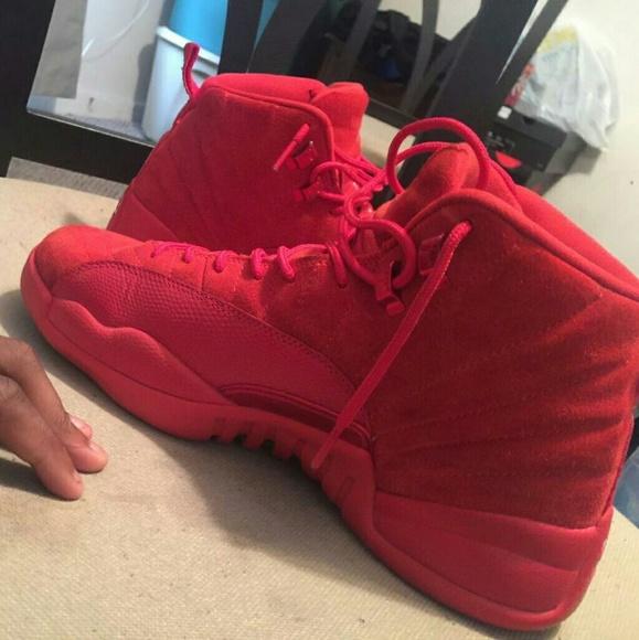 Jordan 12s All Red
