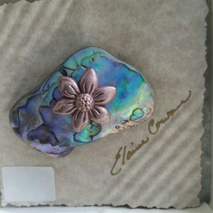 Jewelry - Abalone shell brooch pin brand new handcrafted