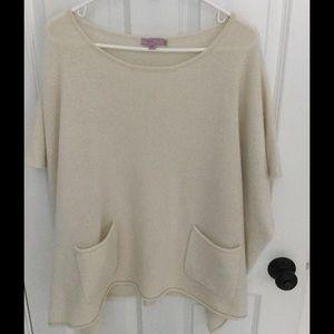 Calypso St. Barth Sweaters - Calypso St. Barth 100% cashmere poncho sweater